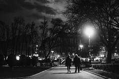 41/365 (goran1101) Tags: park street city trees sky people urban blackandwhite bw white black monochrome silhouette night contrast 35mm nikon streetlight outdoor candid serbia silhouettes belgrade moment decisivemoment project365 d5100