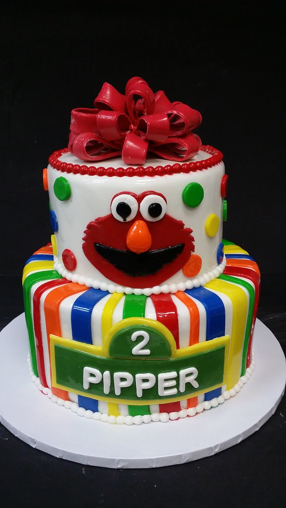 Elmo Cake (dragosisters) Tags: birthday cake kids stripes elmo ...