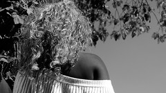 Black and White (herman vogel) Tags: street girl amsterdam hair