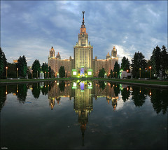 Lomonosov Moscow State University (ArtDen82) Tags: architecture long exposure university state russia moscow soviet empire lomonosov stalinist stalins