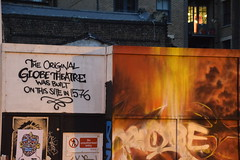 DSC_9842 Shoreditch London Street Art The Original Shakespeare Globe Theatre was built on this site in 1576 (photographer695) Tags: street original london art this was site globe theatre shoreditch built the 1576