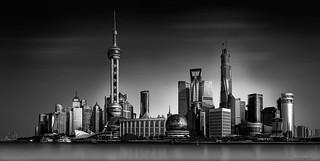 Shanghai-Skyline B+W