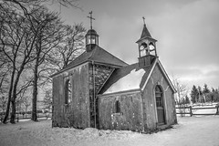 Fagnes - 08 - Chapelle Fischbach in BW (Ld\/) Tags: winter bw mars snow belgium belgique belgie noiretblanc ardennen ardennes neige hoge malmedy hautes fagnes hautesfagnes 2016 ardenne hohes waimes