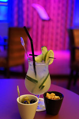 Green Beast Cocktail @ The New York City Bar (Hilary_JW) Tags: restaurants hotelnewyork disneylandparis