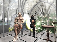 Exciting tea party (sanctussinful) Tags: snow ice beautiful beauty angel silver hair wings long mask magic tail horns bondage bdsm master secondlife ethereal romantic demonic enchantment celestial slave demons physique infernal dominant steampunk submissive slink secondlife:x=66 secondlife:y=24 niramyth secondlife:z=2503 secondlife:parcel=theoutergarden secondlife:region=outergarden