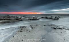 Thin Red Line (Steven Peachey) Tags: morning light sea sky seascape beach clouds sunrise coast rocks exposure northumberland vanguard stmarys northeastcoast northeastengland lee09gnd leefilters lee06gnd lightroom5 stevenpeachey