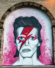 Ziggy Stardust Mural (Splendid What) Tags: streetart mural arches gateshead tribute davidbowie quayside rivertyne thesage ziggystardust