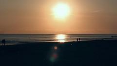 A Long Time Ago.. ( Rosemarie Christina  [Catching up]) Tags: sunset sea sun holland beach nature netherlands canon landscape seaside zeeland shore northsea lensflare canonpowershot dutchcoast redmatrix