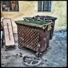 Glamorous St. Petersburg (difsus) Tags: street streetart trash stpetersburg garbage bin squareformat lv louisvuitton snapseed