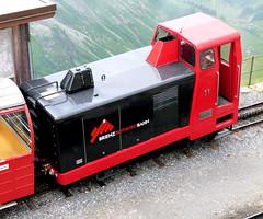 Brienz Rothorn Bahn - Diesel-hydraulic No. 11 built by Steck in 1986 at the Summit on the 9th July 2012 (trained_4_life) Tags: switzerland brb berneseoberland cograilway brienzrothornbahn rackrailway