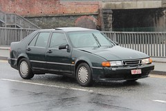 SAAB 9000 (fannyfadams) Tags: uk car swedish vehicle saloon lhd swede anglesey northwales holyhead a55 saab9000