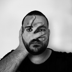 Seeing through (mblaeck) Tags: portrait blackandwhite bw abstract man male monochrome face idea hand seeing concept covering blackandwhiteportrait coveringface abstractportrait seeingthrough handcoveringface blackandwhiteabstract