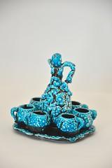 snakeskin liquor set (dekker@dekker) Tags: france ceramics interior pottery ceramique snakeskin keramiek vallauris liquorset likeurset