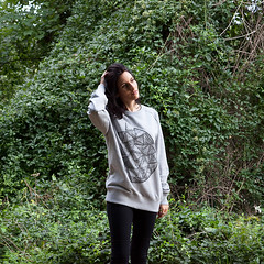 EDGES & VERTICES - Unisex Raglan Sweatshirt. (Martino Francesco) Tags: winter design spring soft material organic sweatshirt unisex lightgrey reglan