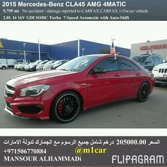 Certified 2015 Mercedes-Benz CLA45 AMG 4MATIC  9795   205000.00                             009715671 (mansouralhammadi) Tags:             fromm1carusatoworld