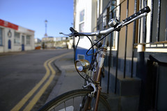 IN A TOWN WHERE EVEN MEMORIES HAVE SEEN BETTER DAYS  -  (Selected by GETTY IMAGES) (DESPITE STRAIGHT LINES) Tags: street old england beach rotting bike bicycle wheel metal bay kent seaside rust flickr ride seat memories chrome cycle getty aged saddle handlebars tyres gettyimages broadstairs ruber vikingbay paulwilliams vikingbaybroadstairs despitestraightlines despitestraightlinespaulwilliams despitestraightlinesatgettyimages gettyimagesesp