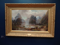Milford SOund New Zealand. Painting in the Bendigo Art Gallery. (denisbin) Tags: new school church painting catholic cathedral artgallery bank zealand methodist milfordsound poppet congregational camphill bendigo masonichall rosalindpark wesleyanmethodistchurch vahland surveyoffice wesleyanmethodsit