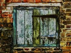Hinges (Steve Taylor (Photography)) Tags: hinge wood uk greatbritain england building brick art texture window metal wall barn digital wooden rust iron unitedkingdom decay shutter gb lintel ramsgate