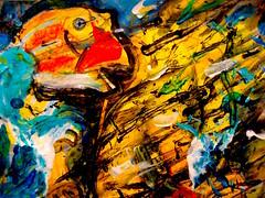 Arothronic Recitation Of A Disappearing Torso (giveawayboy) Tags: fish man art painting tampa sketch paint artist acrylic drawing torso crayon cdc recitation fch giveawayboy disappearing arothron billrogers imaginal arothronic