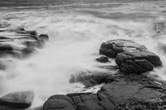 Different dynamics (Raphs) Tags: ocean longexposure sea blackandwhite water monochrome coast rocks waves dynamic wind sweden fv5 balticsea motionblur shore sverige splash tones breakwater raphs kullaberg canoneos70d canonefs1018mmf4556isstm stersen