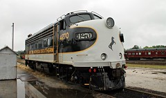 NS 4270 EMD F9 (Conrail1978) Tags: railroad ohio car rain train office nc ns north norfolk engine loco baltimore special southern event carolina bo passenger spencer ocs f9 unit streamliner 2014 f7 emd 937 4270