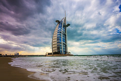Burj Al Arab - Dubai (HarveyDxb) Tags: world sea tourism beach stars landscape hotel persian amazing dubai gulf cloudy uae burjalarab luxury jumeirah
