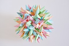 Six Interlocking Octagonal Stars+Six Interlocking Dodecagonal Stars (Byriah Loper) (Byriah Loper) Tags: paper origami polygon paperfolding wireframe planar polyhedron origamimodular heptagon crimp octagonal heptagonal octahedral byriahloper