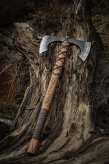 Riverheart - Double Blade Viking's Axe (John Neeman Tools) Tags: john hand battle double tools made axe forged handtools bladed neeman vikingaxe vikingbeardedaxe vikingbattleaxe