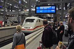 Berlin Main Train Station (4) (AntyDiluvian) Tags: trip railroad berlin ice station train germany deutschland platform bahnhof hauptbahnhof hbf mannheim centralstation intercityexpress 2015 ice597