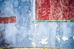 Colorful Decay IV (Wits End Photography) Tags: blue abandoned color decay peeling house weathered architecture green discolored window colorful red bleached building cracked decayed discarded faded faint forgotten forsaken glass multicolored neglected old opening paint pale portal rejected structure texture worn