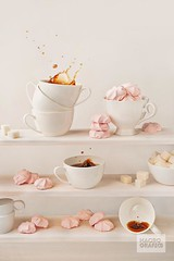 Pale pink (Bring life to your space. Decor Products) Tags: morning pink white coffee dessert peace lifestyle tranquility fresh collection cups marshmallow sweets splash comfort relaxation shelves whiteonwhite levels sugarcubes