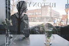 104/366 noora (Niko Saarinen) Tags: street city summer portrait art coffee girl bar suomi finland spring tea doubleexposure streetphotography fujifilm kes kouvola kevt betony xe2 classicchrome betonihelvetti fujinon18mm