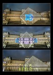 Paris by Light #3 (tOntOnfred LP) Tags: light lightpainting paris france night painting louvre pyramide pyramidedulouvre lightpaintingphotography