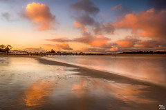 Golden Hour at Barwon Heads (mark.iommi) Tags: sunset sea beach clouds reflections long exposure australia victoria goldenhour barwonheads