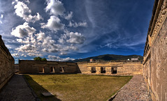 Panoramica de Mitla, lugar de los muertos, Oaxaca, Mexico (Martintoy) Tags: travel panorama color mexico nikon colorful pano panoramic ruinas panoramica oaxaca mitla arqueologica d300s