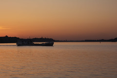 Ship on Danube (nenadlatkovic) Tags: city sunset river dawn town nikon ship serbia belgrade danube sava 18105 zemun d5200