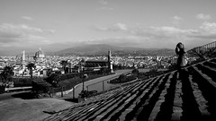 See Florence and cry (thesilvercitizen) Tags: lady florence blackwhite shadows steps cityscapes
