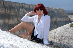 DCS_0016 (dmitriy1968) Tags: portrait cliff nature girl beautiful erotic outdoor wife quarry    sexsual