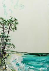 Justin Gaffrey SS24X36-2016-081 (Justin Gaffrey) Tags: trees lake art nature water beautiful painting landscape artist bright florida dune coastal pines acrylicpaint 30a lakescape sowal justingaffrey