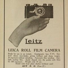 Leica advert 1930 (Roseman's) Tags: leicai leitzlondon leitzadvert