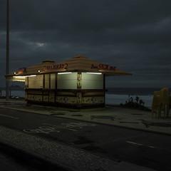 Beliskao (Julio Lpez Saguar) Tags: sea beach brasil night noche mar playa silence silencio kiosko rodejaneiro juliolpezsaguar talkinginsilence conversacionesensilencio