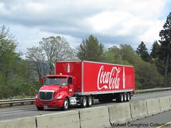 Coca-Cola International Prostar daycab with triaxle trailer (Michael Cereghino (Avsfan118)) Tags: 3 classic truck cola coke semi international delivery cocacola trailer tri coca trucking ih axle prostar daycab triaxle
