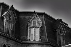Mother is home (_rebelrouser_) Tags: windows blackandwhite wisconsin architecture scary shadows milwaukee