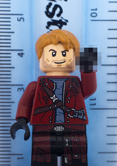Oh I'm sorry, I didn't know how this machine worked (version 2) (tomtommilton) Tags: macro scale comics toy funny lego censored galaxy superhero mugshot marvel ruler outlaw pixelated guardians minifigure toyphotography starlord