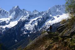 Hiker's stairway to heaven (balu51) Tags: mountain landscape spring warm hiking peak sunny stairway berge treppe april hiker landschaft hikingtrail wanderung wanderweg frhjahr graubnden gipfel bergell badile copyrightbybalu51