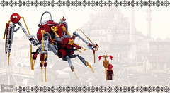 The Buhar Walker (Standby Mode) (burningblocks) Tags: spider lego walker empire ottoman middle eastern mech steampunk moc