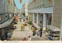 Don Street, St Helier, Jersey old postcard early 1970s? (RIP BHS) (Spottedlaurel) Tags: jersey 1970s bhs sthelier britishhomestores donstreet townprecinct