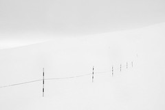 (Raumstation) Tags: winter blackandwhite snow fence landscape