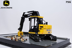 03_John_Deere_75G (LegoMathijs) Tags: road scale yellow john chains team model lego display technic dozer blade snot deere compact excavator moc 75g foitsop decalls legomathijs