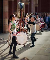 Joji Hirota London Taiko Drummers at the Japan Festival for Families at the Victoria and Albert Museum, London (godrick) Tags: uk england london japanese victoriaandalbertmuseum taiko drumming drummers wadaiko gbr jojihirota kumidaiko